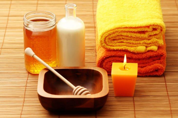 медовый продукт в бане