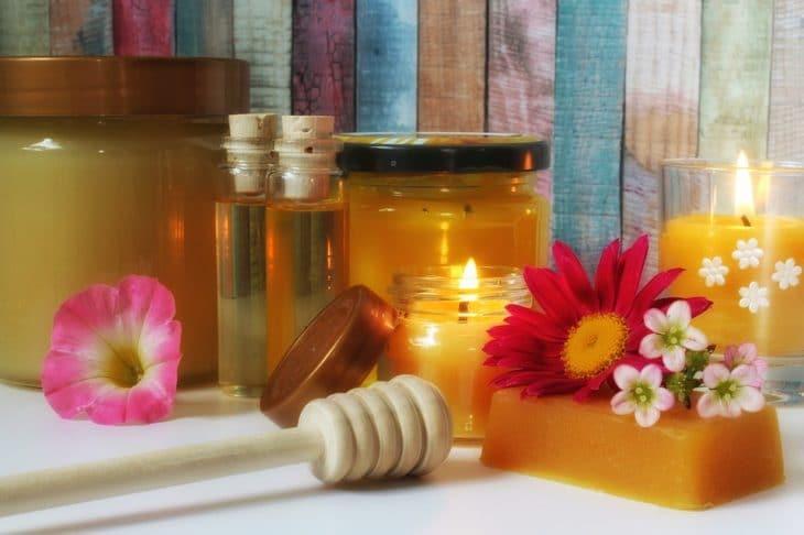 свечи с медом