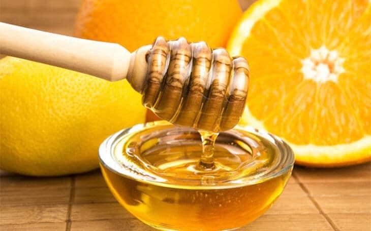 апельсин с медом и лимоном