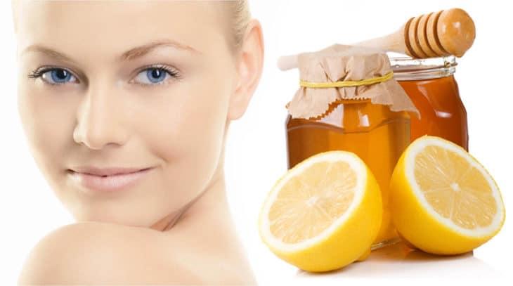 девушка и мед с лимоном