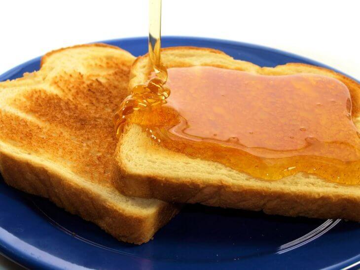 тосты с медом