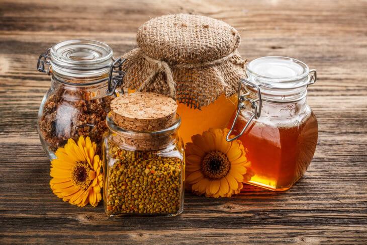 прополис, перга и мед