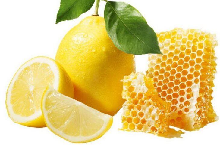 лимон с медом в сотах
