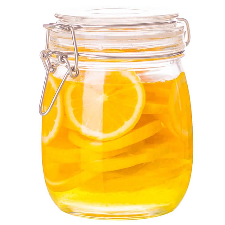 банка с медом и лимоном