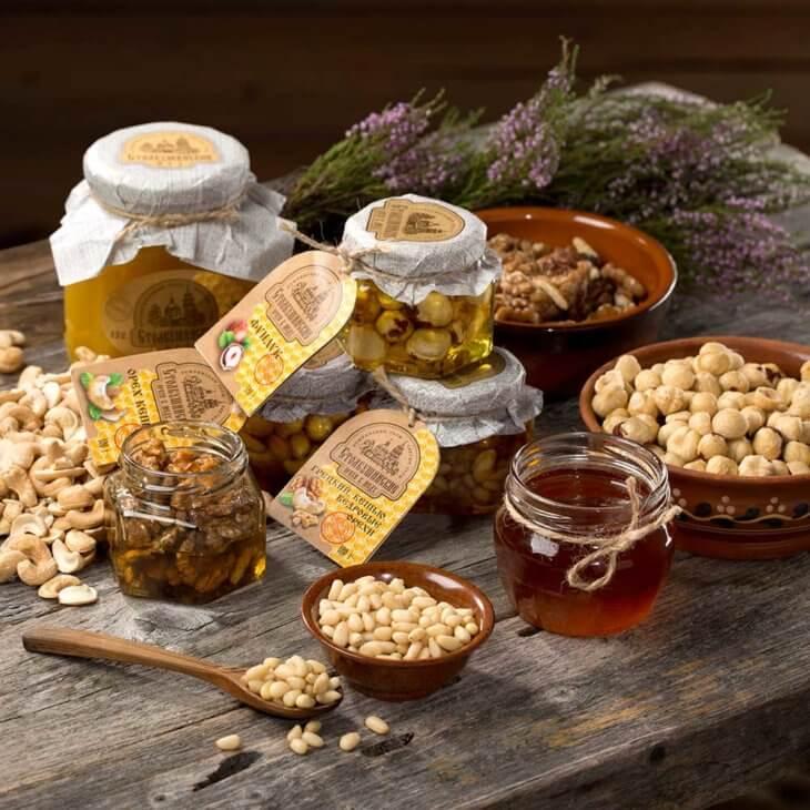 медовый нектар с орехами