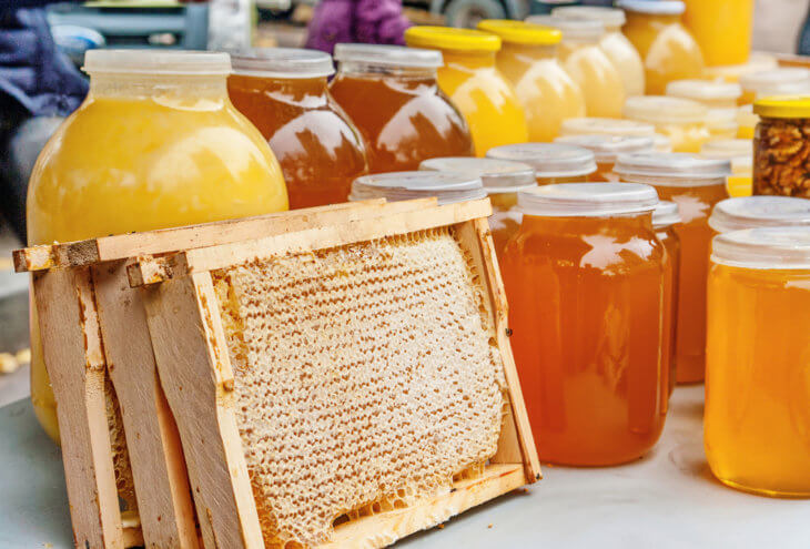 жидкий и сотовый мед