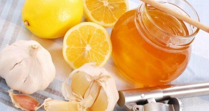 мед с лимоном и чесноком