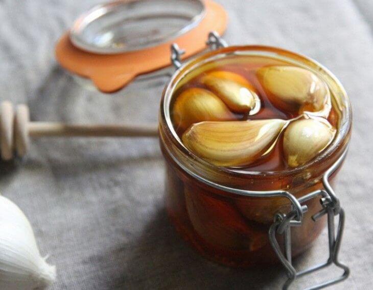 чеснок в меду